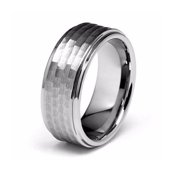 Silver Unique Mens Wedding Bands