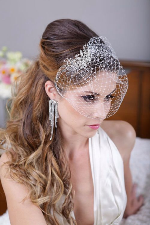 29 pretty birdcage veils and how to make one ring to perfection simple birdcage veil solutioingenieria Images
