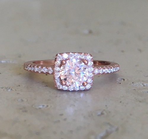 Small Rose Gold Promise Ring