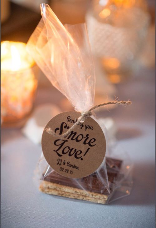 Smores Wedding Favors with Tags for Guests