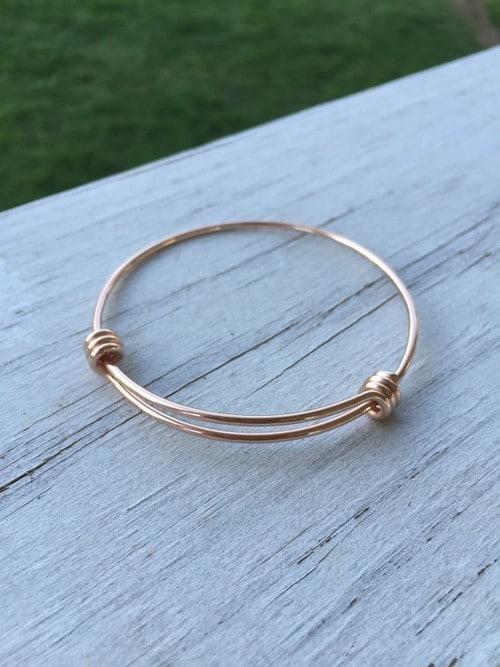 Solid Rose Gold Bracelets