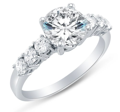 Sonia Jewels Solid 925 Sterling Silver Engagement Ring 1.75Ct.