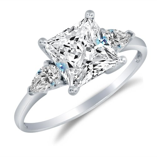 Sonia Jewels Solid 925 Sterling Silver Engagement Ring 2.0 Ct