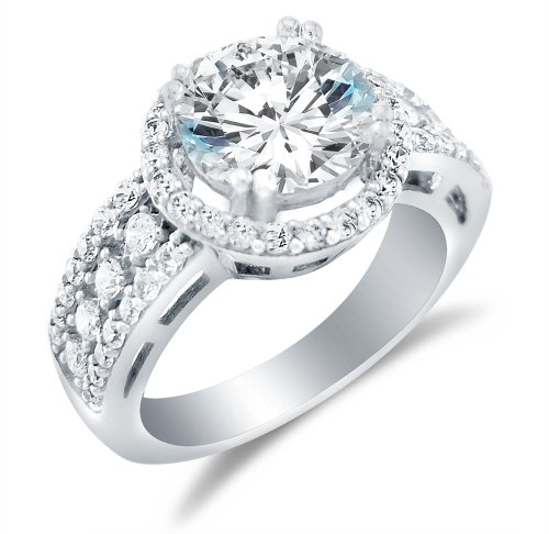 Sonia Jewels Solid 925 Sterling Silver Engagement Ring 3.5Ct.