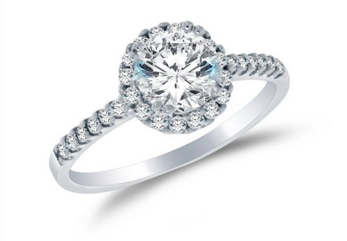 Sonia Jewels Solid 925 Sterling Silver Halo Engagement Ring