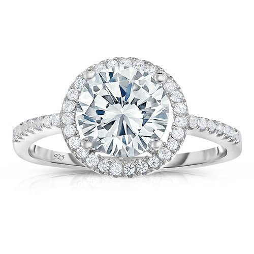 Spoil Cupid Round Halo Cheap Diamond Engagement Rings