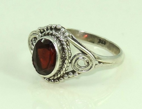 Sterling Silver Garnet Rings