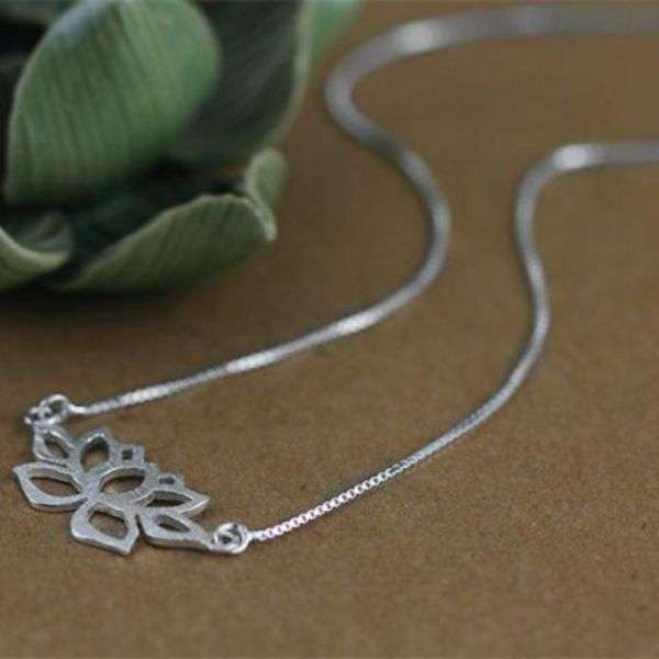 Sterling Silver Necklace Womens