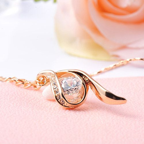 Swarovski Rose Gold Necklaces
