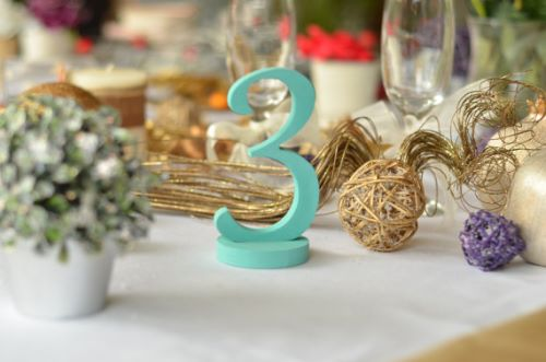 Table Number Wedding Decoration