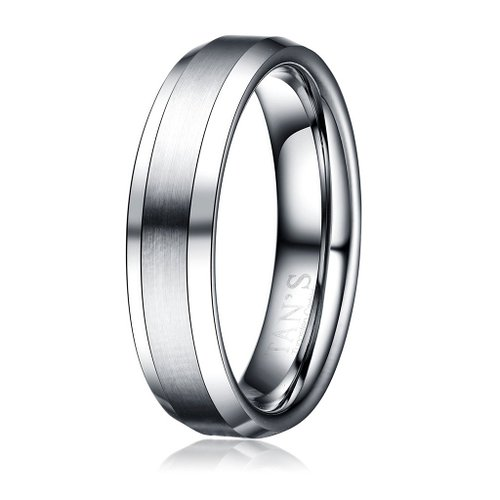 Tan's 6mm Men's Tungsten Ring Wedding Band