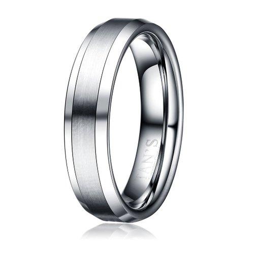 Tan's 6mm Men's Tungsten Ring Wedding Band