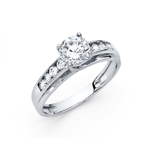 The World Jewelry Center .925 Sterling Silver Engagement Ring