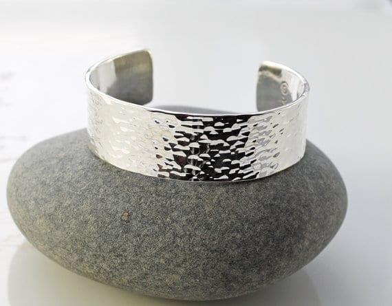 Thick Hammered Bracelets For Men