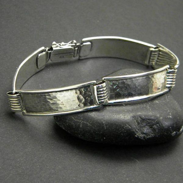 Thin Silver Bangle Bracelets