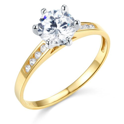 Twjc Wedding Collection 14K Yellow Wedding Engagement Ring