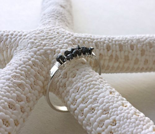 Uncut Rough Diamond Ring