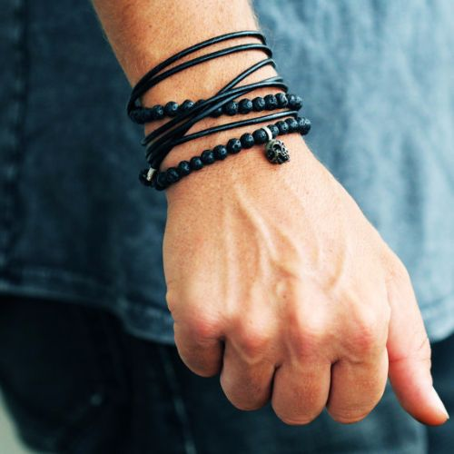 Unique Mens Leather Bracelets
