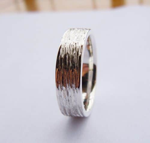 Unique Mens Ring To Perfection Wedding Bands White Gold