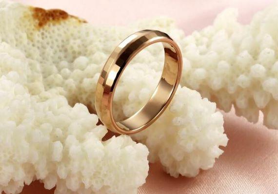 Unique Mens Wedding Bands Faceted Gold