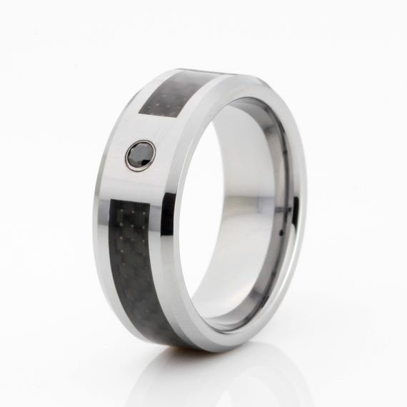 Unique Mens Wedding Bands Silver