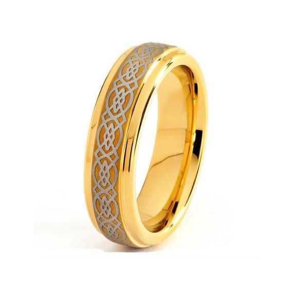 Unique Mens Wedding Bands Yellow Gold