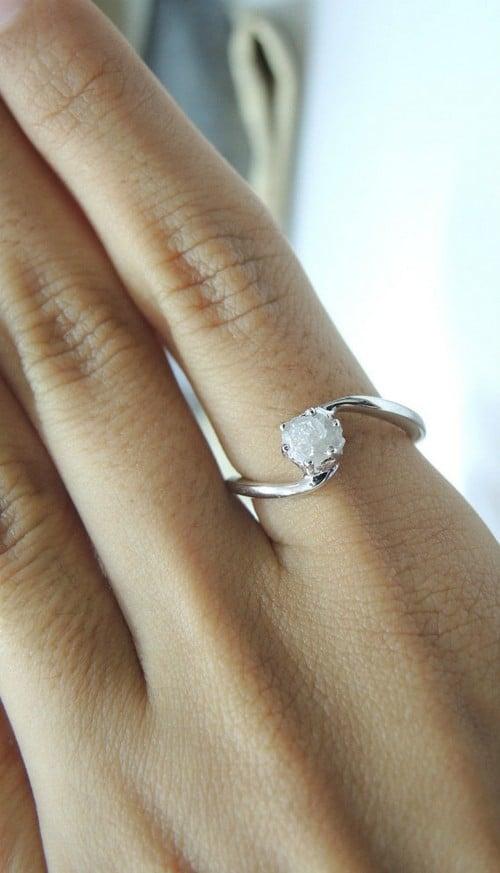 Unique Rough Diamond Rings