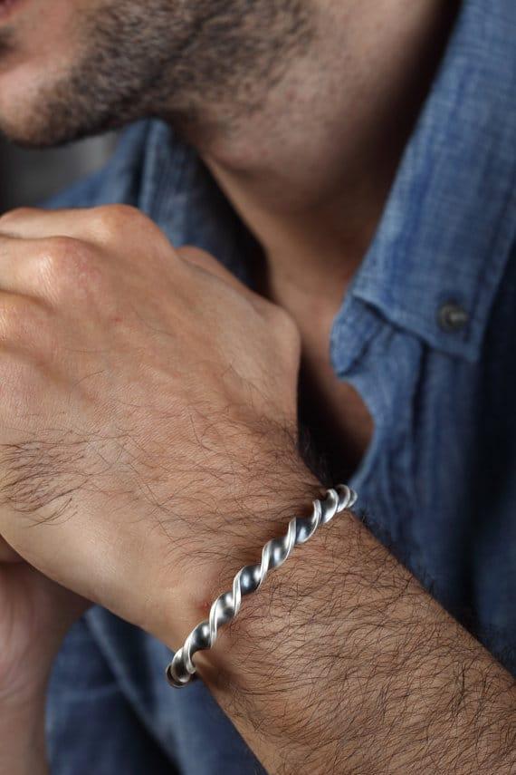 Unusual Sterling Silver Bracelets For Men