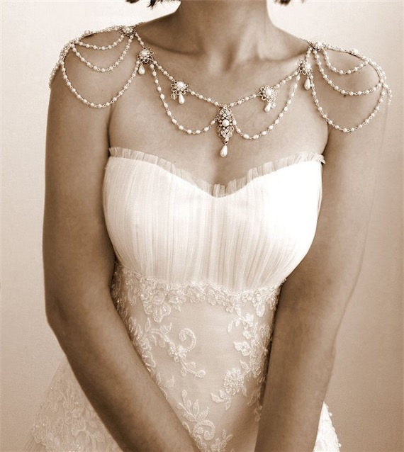 Victorian Bridal Jewelry Necklace for the Shoulders