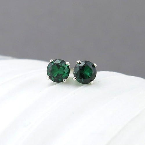 Vintage Emerald Earrings