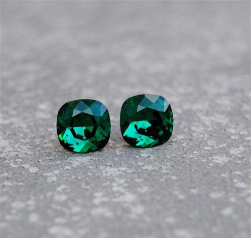 Vintage Emerald Earrings