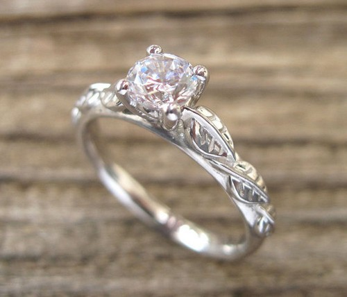edj chic engagement and brides estate diamond cut ring beautiful asscher rings vintage sapphire from jewelry jewellery