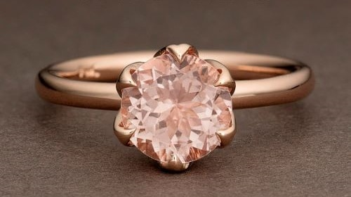 Vintage Pink Gold Engagement Rings