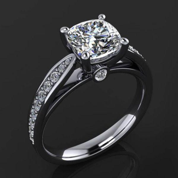 Vintage Princess Cut Engagement Ring
