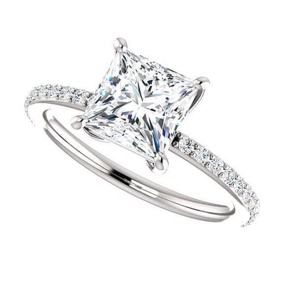 vintage princess cut engagement ring - Princes Cut Wedding Rings