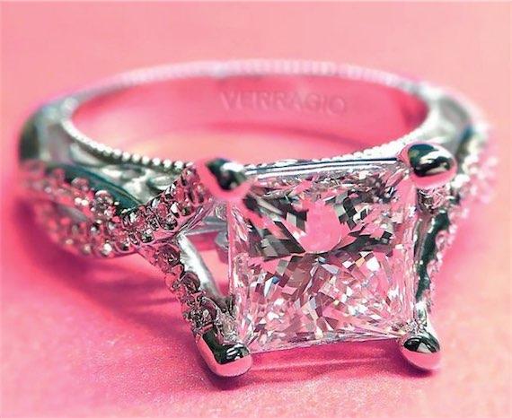 Vintage Verragio Princess Cut Engagement Ring