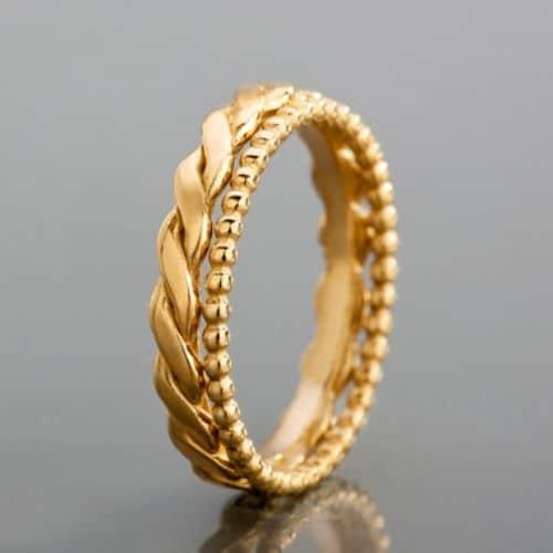 Wedding Rings Gold Band