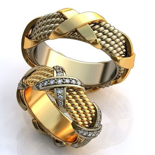 Wedding Rings Joined Together