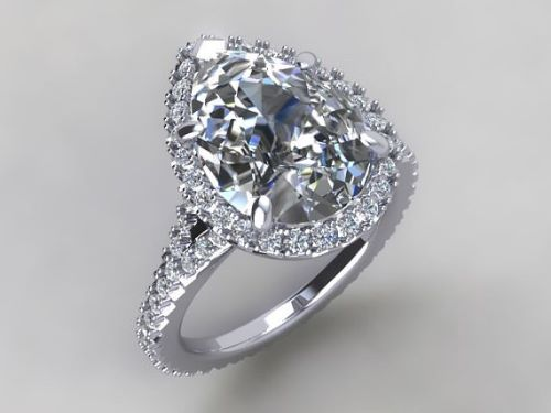 White Gold Engagement Rings For Her