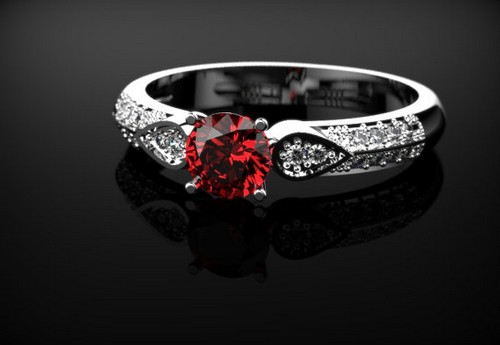 White Gold Engagement Rings Sets