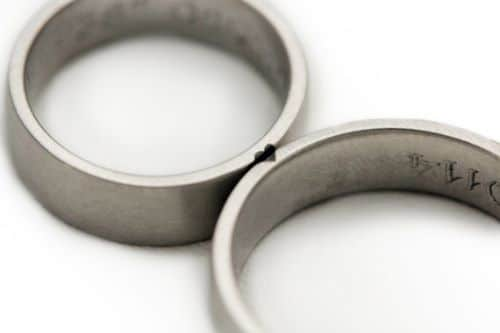White Gold Promise Rings For Couples