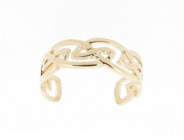 White Gold Toe Rings