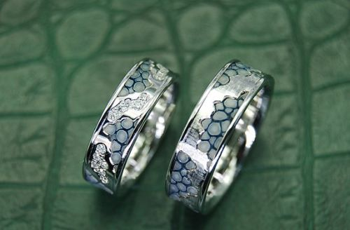 White Gold Wedding Ring Sets For Him And Her
