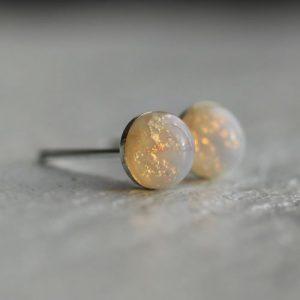 White Opal Earings