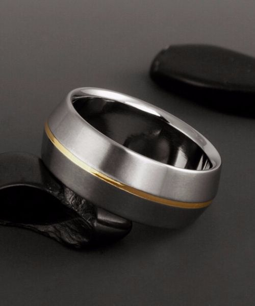 Womens Black Titanium Engaement Rings