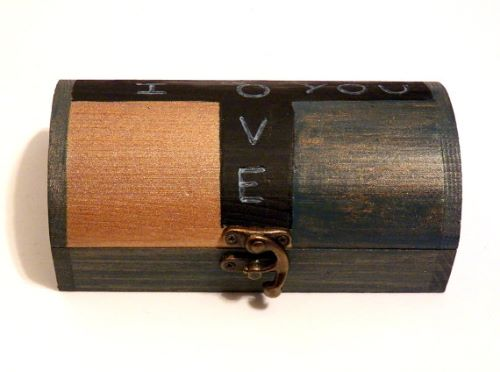 Wood Mens Jewelry Box