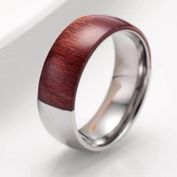Gentil Wooden Unique Mens Wedding Bands