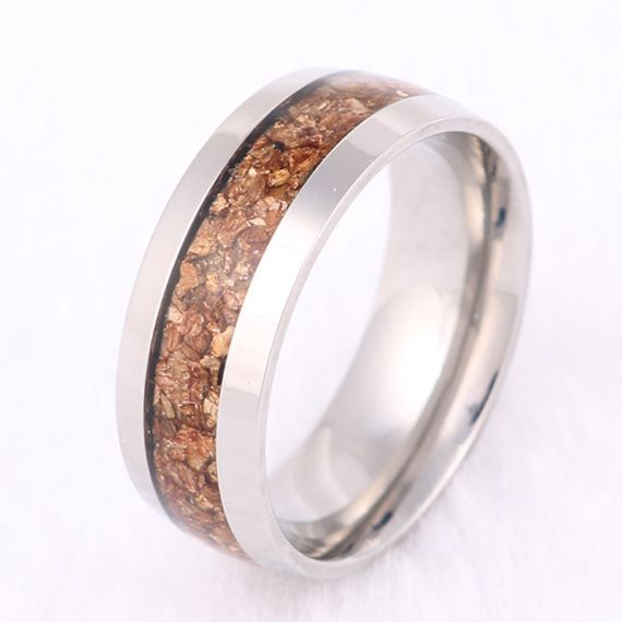 Wood Titanium Unique Mens Wedding Bands