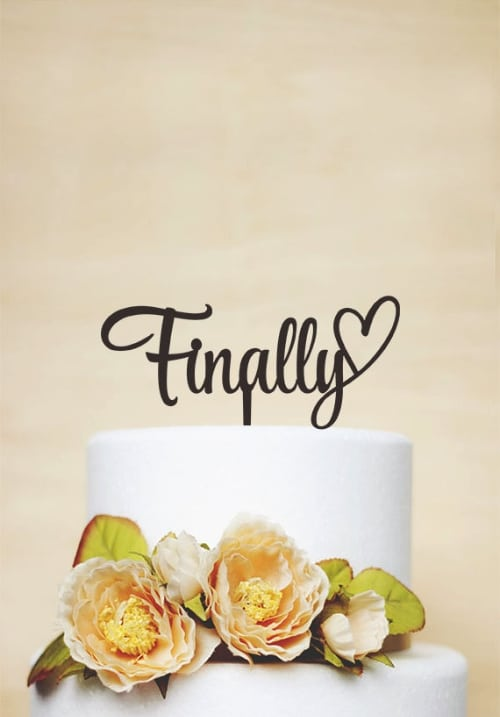 Wooden Wedding Cake Toppers Vintage