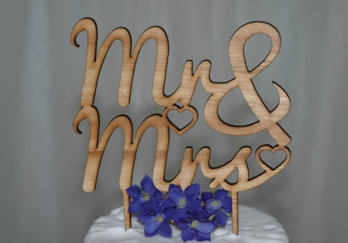 Wooden Wedding Toppers